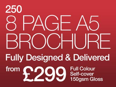 8 page A5 brochures designed and printed