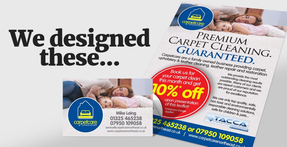 We design printed leaflets, business cards and stationery