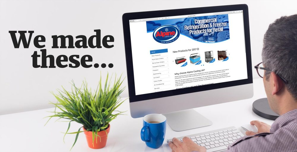 We make websites for commercial refrigeration companies